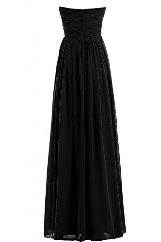 Sunvary romantico chiffon lunghezza intera senza spalline A-Line sera Prom abiti