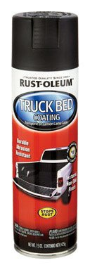 Curved Work Surface (Rust-Oleum 248914 6 Pack 15 oz. Truck Bed Coating Spray, Black)