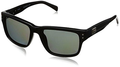 [Guess GUP1010-BLK-3 Men's Rectangle Black Polarized Sunglasses] (Geek Chic Glasses)