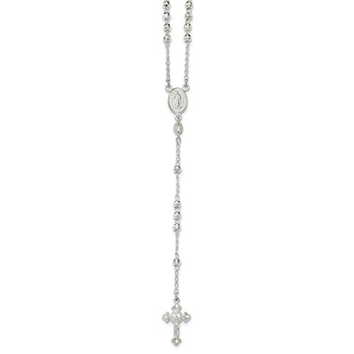 Set Sterling Silver Crucifix (ICE CARATS 925 Sterling Silver Faceted Beads Crucifix Cross Religious Chain Necklace Fine Jewelry Gift Valentine Day Set For Women Heart)