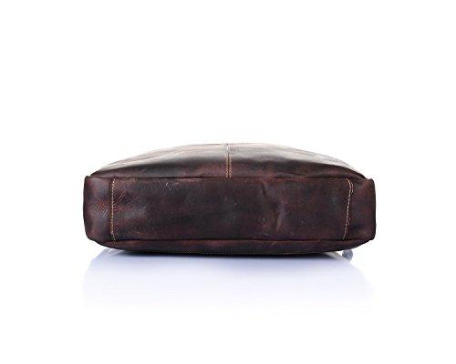 Retro Zaino Horse Laptop Jiurui Borsa Leather Uomo Per Totes Messenger Crazy amp; Brown 8RRBwqU4