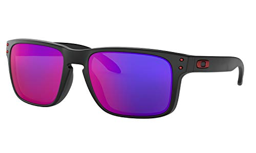 Oakley Holbrook Matte Black Red Lens Sunglasses (Lila Frame Oakleys)