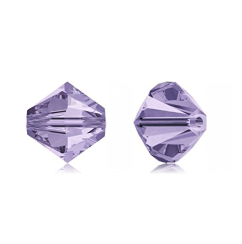 - 100pcs Genuine Preciosa Bicone Crystal Beads 3mm Violet Alternatives For Swarovski #5301/5328 #preb304
