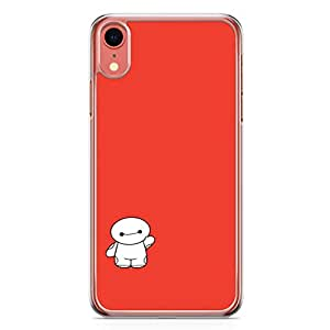 Loud Universe Cute Big Brother Red and White iPhone XR Case Cute Kawai Cartoon iPhone XR Cover with Transparent Edges