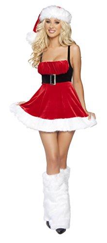 Roma Costume Women's 1 Piece Santa's Envy-Red White, Red/White, Medium/Large