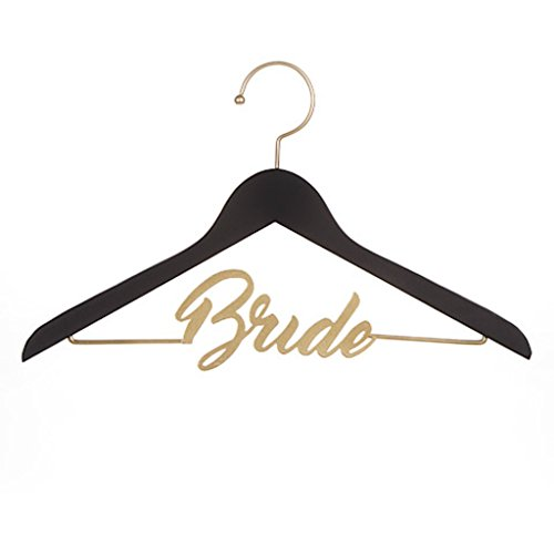 David Tutera Black Gold Bride Wedding Dress Chalkboard Clothes Hanger