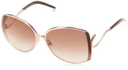 Roberto Cavalli Women's RC663S6328F Square Sunglasses,Shiny Rose Gold,63 mm