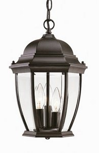 Acclaim 5036BK Wexford Collection 3-Light Outdoor Light Fixture Hanging Lantern, Matte Black by Acclaim