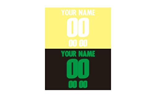 Jersey Lettering Kit - Glow Lime in The Dark Custom Iron-on Heat Transfer Vinyl Name and Number Kits for Custom Hockey Jerseys Shirts Clothing