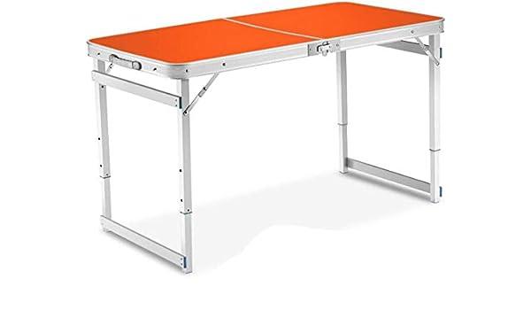 LICCC Mesa Plegable Mesa al Aire Libre Mesa Plegable de Aluminio Portable de la Comida campestre Que acampa Tabla Inicio Simple Escritorio (Color, Naranja), Verde (Color : Orange): Amazon.es: Hogar