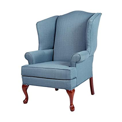 Amazoncom Comfort Pointe Erin Blue Wing Back Chair Kitchen Dining