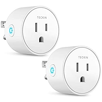 Smart Plug Wifi Outlet 16A Compatible With Alexa, Echo, Google Home and IFTTT, Teckin Mini Smart Socket with Energy Monitoring and Timer Function, No Hub Required