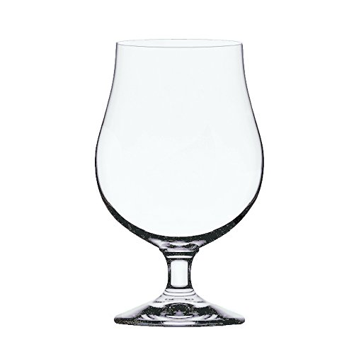 Stolzle Berlin Beer Crystal Glass - Belgian Tulips Style, 16 Ounce, Set of 4