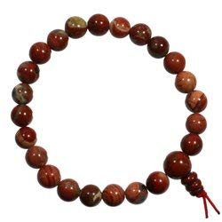 CrystalAge Poppy Jasper Power Bead Bracelet