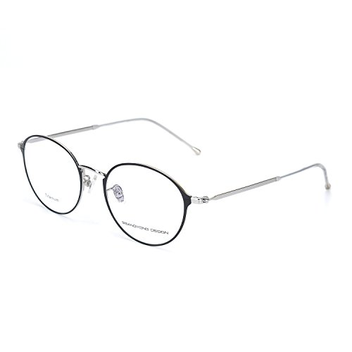Eileen&Elisa Round Vinatge Glasses Frame Metal Clear Lens Reading Eyeglasses with Case (Silver, 52) (Vinatge Glasses)