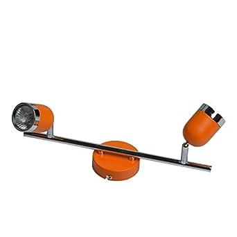 Faretti da parete regolabili (Arancione, 4 faretti) [Classe di efficienza energetica A] MW-Light
