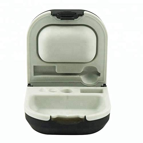 Hearing Aid Case with Cleaning Brush and Battery Storage Slot Hard Small 0.59