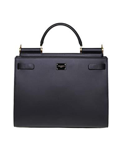 - Dolce E Gabbana Women's Bb6624av38580999 Black Leather Shoulder Bag