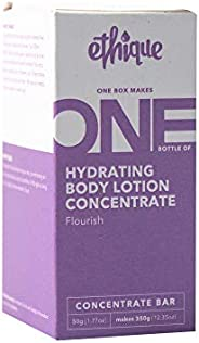 Ethique Hydrating Body Lotion Concentrate Bar- Flourish- Sustainable Natural Body Lotion, Palm Oil Free, Plast