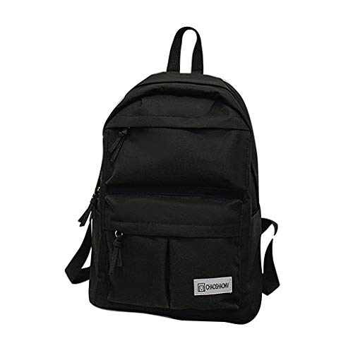 School Backpack for Couple Cute Teens School Bag Bookbags Travel Hiking Leisure Daypack (Black) ()