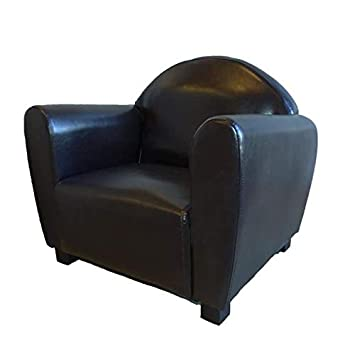 Cotton Wood Simon Fauteuil Club Simili Cuir Marron Enfant Pu