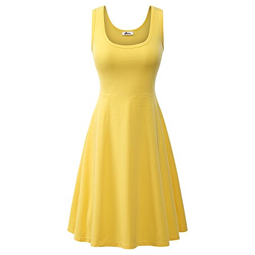 herou-women-summer-beach-casual-flared-midi-tank-dress-xxx-large-yellow