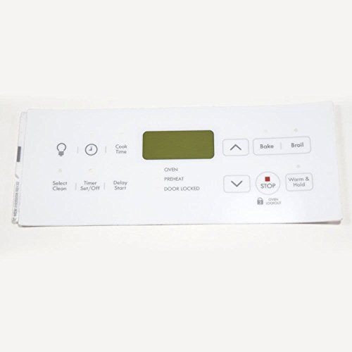 139091300 Range Control Panel Overlay Genuine Original Equipment Manufacturer (OEM) Part - White Range Panel Control