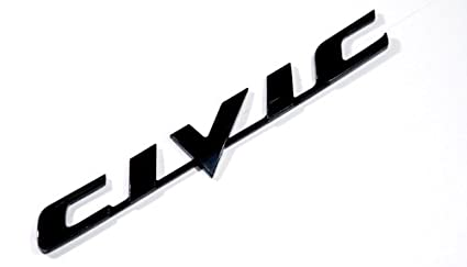 amazon com honda civic black logo sign emblem decal car parts new rh amazon com civic logo font civic logo honda