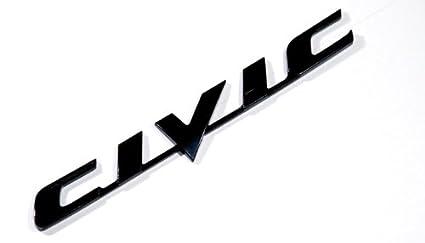 Honda Civic Black Logo Sign Emblem Decal Car Parts New