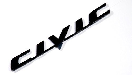 Honda Civic Black Logo Sign Emblem Decal Car Parts - Cars Parts