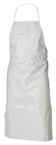 Kimberly-Clark KleenGuard A40 XP Liquid and Particle Protection Aprons, 28 Width x 40 Height, White 44481 (100 per Case) by Kimberly-Clark Professional