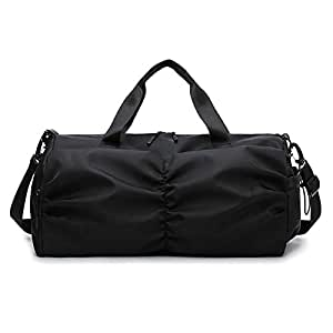 Fashion Travel Bag Gym Bag High Capacity with Shoes Compartment and Wet Dry Storage Waterproof & Durable Duffel Bag Rooftop Rack Bag,Black