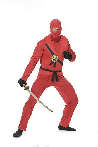 Charades Men's Ninja Avengers Costume Series I, red Medium]()
