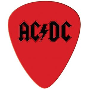 AC//DC Red Logo Guitar Pick  New   Free Shipping