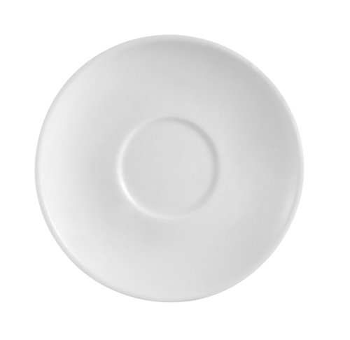 CAC China RCN-36 Clinton Rolled Edge 4-1/2-Inch Super White Porcelain Saucer, Box of 36