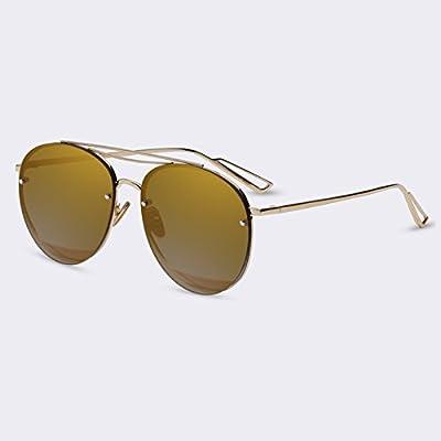 TIANLIANG04 femmes lunettes de soleil Lunettes de soleil Lunettes de luxe Mode ovale Lunettes Style unique au miroir