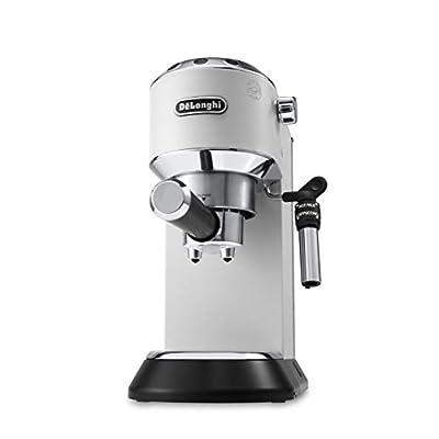 Delonghi EC685.W DEDICA 15-Bar Pump Espresso Machine Coffee Maker 220 Volts (Not for USA - European Cord) White