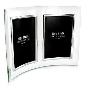 double curved glass portrait photo frame
