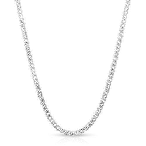 Sterling Silver Italian 2mm Miami Cuban Curb Link Thick ITProLux Solid 925 Necklace Chain 16