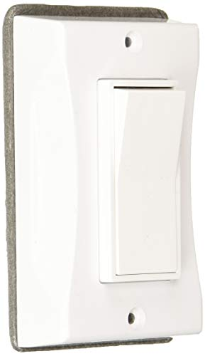 Hubbell 5123-1 1-Gang Weatherproof Cover, Vertical, Decorator, White, Shrink,