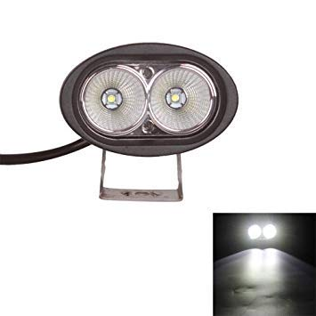 Uniqus DC 9-32V 20W 2000LM 6500K IP68 Waterproof Vehicle Car Boat Marine External Work Lights Emergency Lights 45 Degrees Adjustable Flood Light LED Car Bulbs with 2 Intense CREE LED Lights(White Light)