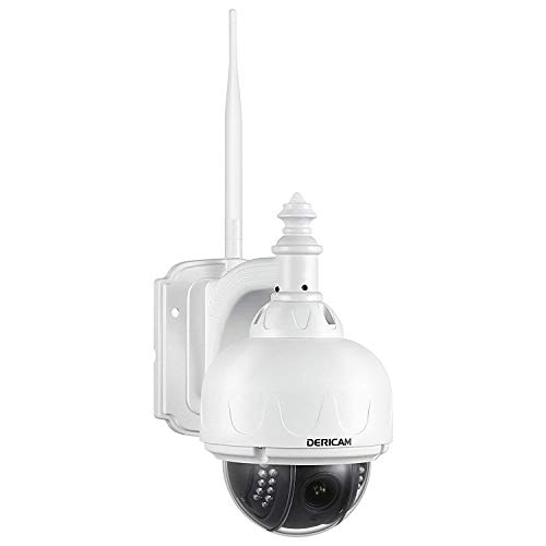 Outdoor WiFi Security Camera, HD 960P ,PTZ Camera, 4x Optical Zoom, Auto-focus, Night Vision, IP65 Weatherproof (No Memory Card)