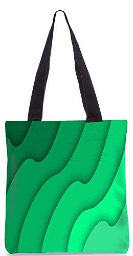 """Snoogg Abstrakte Grüne Muster-Einkaufstasche 13,5 X 15 In """"Shopping-Dienstprogramm Tragetasche Aus Polyester Canvas"""