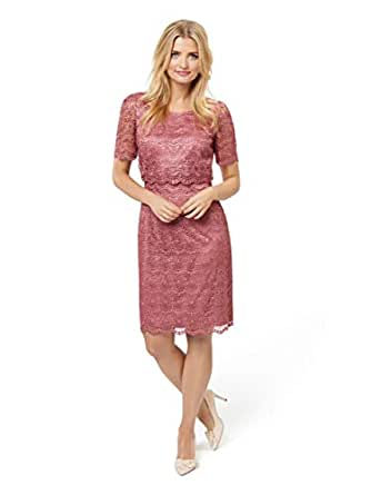 Review Women's Anne-Marie Dress Evening Rose 14