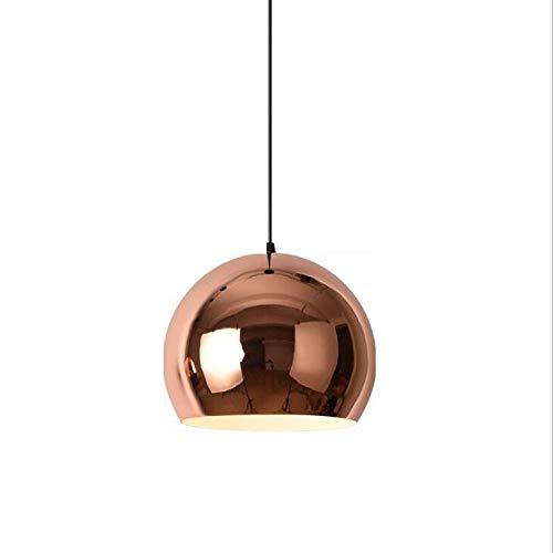 Household Chandeliers, Modern Sphere Pendant, Adjustable Mirror Ball Pendant Lamp, Creative Iron Art Restaurant Simple Modern Home Living Room Bedroom Ceiling Light Lamp,Warmlight,23cm ()