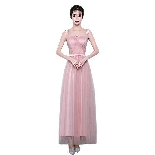 D'onore stile Rosa Abito Principessa 3lungo Dazisen Da Tulle Vestito lungo Damigella Corto Sera Festa Stile DonnaElegante TkwPZiuOXl