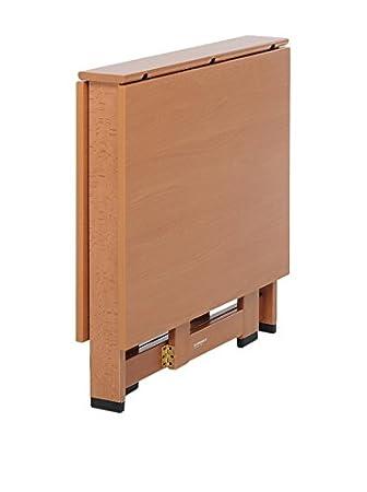 Legno Noce Foppapedretti Cartesio Tavolo con Piani Pieghevoli 75x12,5x74 cm
