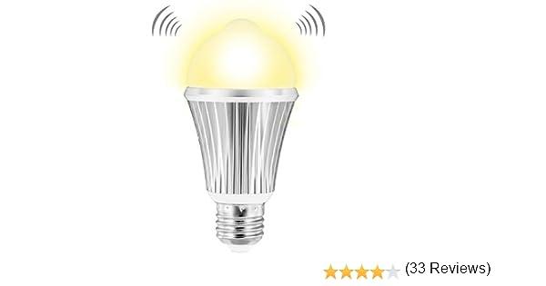 Witshine - Bombilla LED con sensor de movimiento, 12 W, 1000 lm, 100 W, sensor de luz ambilente, E26 para interiores y exteriores, luz blanca cálida, 3000 K, para iluminación de pared,