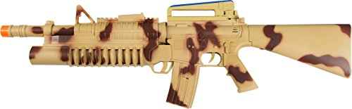 "Maxx Action 29"" Toy Heavy Machine Gun with Electronic Sound, Lights, and Motorized Recoil - Camo"