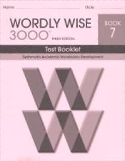 wordly wise 3000 book 7 educators pub svc inc 9780838876336